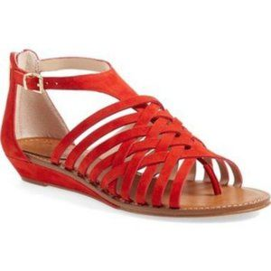 Vince Camuto Syndia Red Suede Sandals